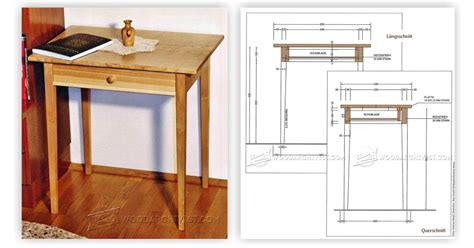 side table designs with drawers one drawer side table plans woodarchivist