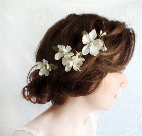 sol ombre 613 janet hair 28 pieces white hair accessories white flower clips bridal hair