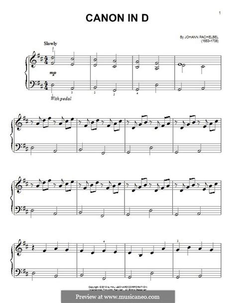 printable canon in d sheet music canon in d major printable by j pachelbel sheet music