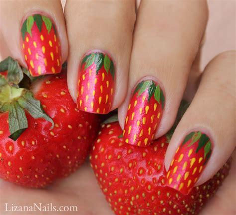 tutorial nail art strawberry strawberry nail art by lizananails on deviantart