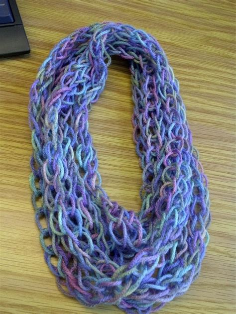 how to finish finger knitting a scarf 33 best arm knitting images on finger knitting