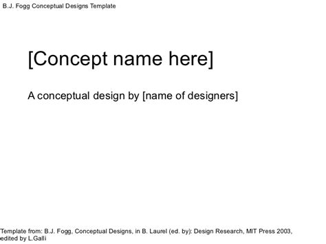 Conceptual Design Template