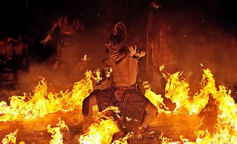 kecak fire trance dance  taman kaja community ubud
