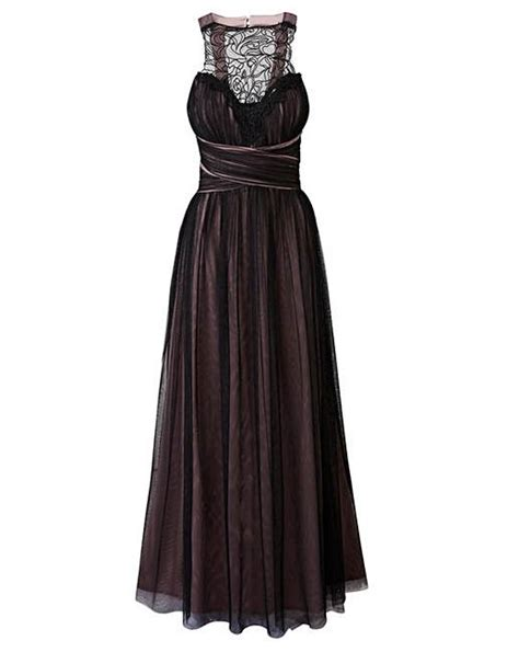 dress sl 0316001tuneeca simply look mesh detail maxi dress simply be