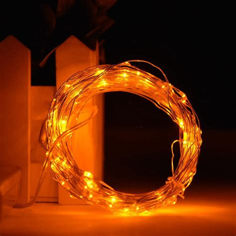 gold string lights 2m 3m copper wire starry led silver gold string light aa battery operated ebay