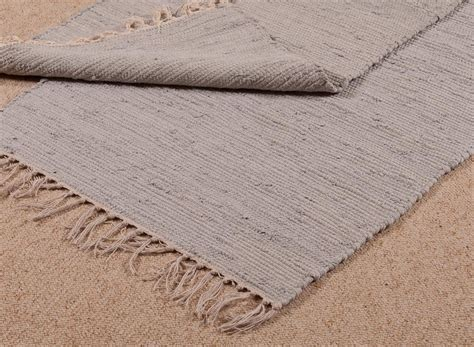 100 Cotton Rug Blue Grey Door Mat Hand Loomed In Cotton Rugs