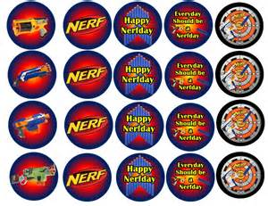 nerf inspired edible images cupcake cookie toppers