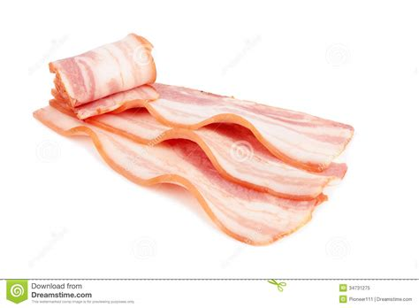 protein 2 slices bacon sliced bacon royalty free stock photo image 34731275