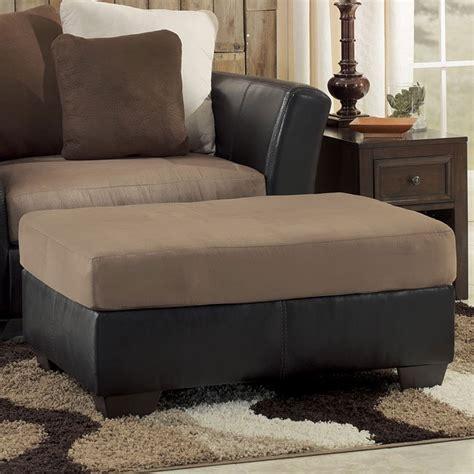 masoli mocha oversized accent ottoman signature design  ashley furniture furniturepick