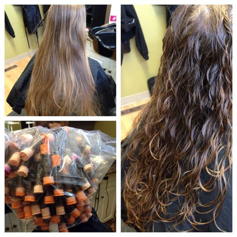 beach wave perm on short hair spiral perm for beach wave hair orange beige n purple rods