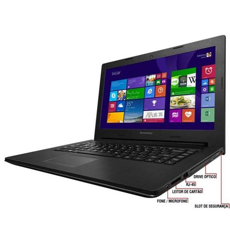 Laptop Lenovo G400s notebook lenovo g400s intel 174 core i5 3230m 4gb 1tb gravador de dvd leitor de cart 245 es