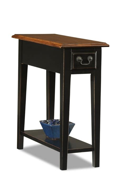 thin accent table amazon com leick chair side end table slate finish