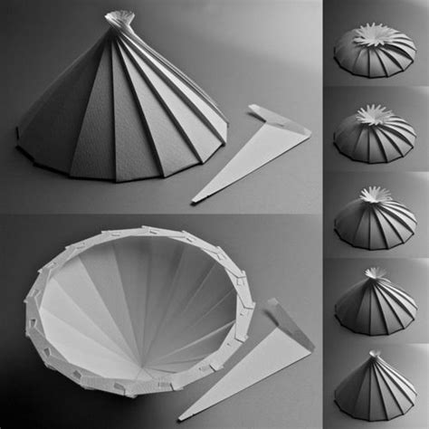 How To Fold A Cone Out Of Paper - the world s catalog of ideas