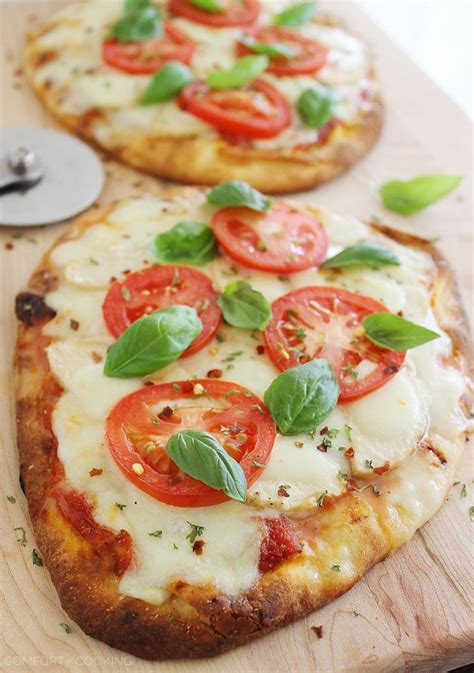 the comfort of cooking cheesy chicken parmesan flatbread pizza