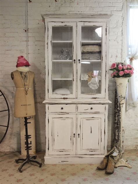 small shabby chic china cabinet painted cottage chic shabby farmhouse cabinet shabby chic
