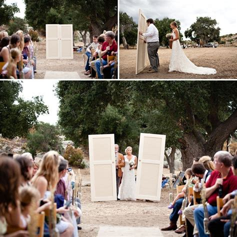 Wedding Ceremony Entrance by Great Way To Hide The For An Outdoor Wedding