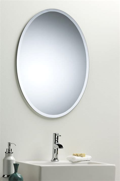 oval bathroom wall mirrors bathroom wall mirror modern stylish oval with bevel