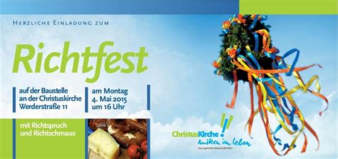 Muster Einladung Richtfest Bautagebuch Mai 2015 Christuskirche