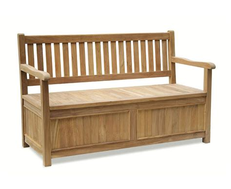 gardeners benches with storage windsor teak 5ft garden storage bench with arms