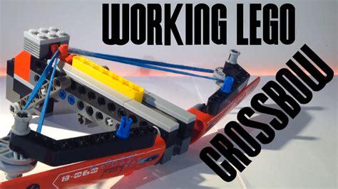 lego crossbow tutorial working lego crossbow youtube