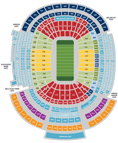seating chart lambeau new lambeau field seating chart www imgkid the
