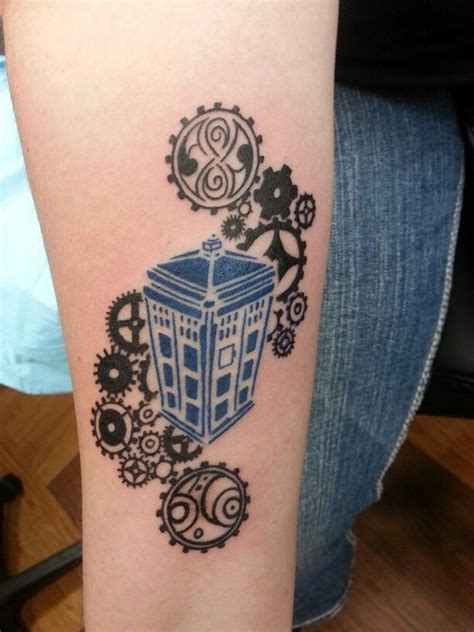 dr who tattoo doctor who tardis doctor who