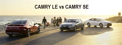 difference between toyota camry le and se differences between 2016 camry le and se