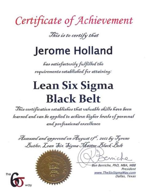 six sigma black belt certificate template six sigma black belt resume etame mibawa co