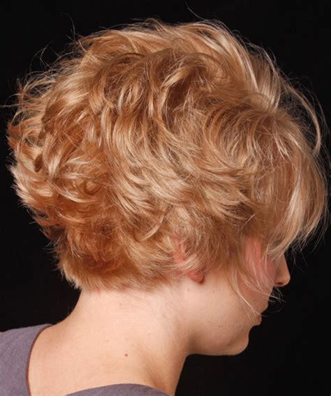 wedge bob haircut side view wavy short curly bob hairstyles back view