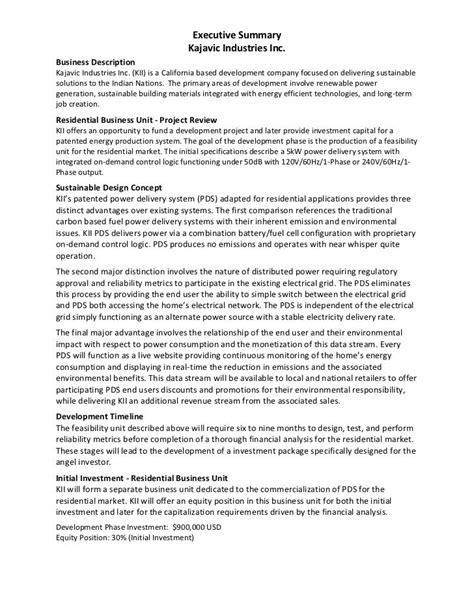 executive summary exle kajavic industries marketing