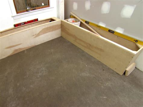built in storage bench plans build corner storage bench seat quick woodworking projects