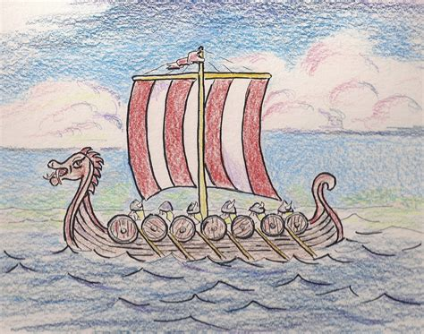 how to draw a easy viking boat how to draw worksheets for the young artist how to draw a