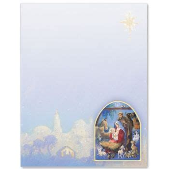 Christmas Nativity Border Papers Christmas Stationary Pinterest Christmas Nativity Nativity Letter Template