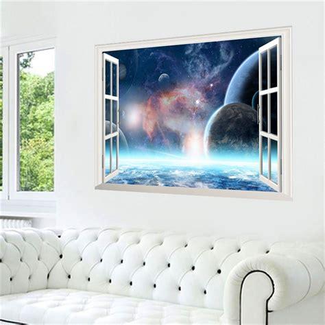 3d Aufkleber Weltraum by 3d Weltraum Weltall Fenster Wandsticker Wandtattoo