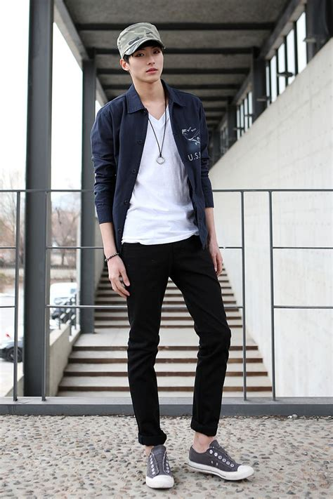 an emerging styling statement korean men fashion acetshirt