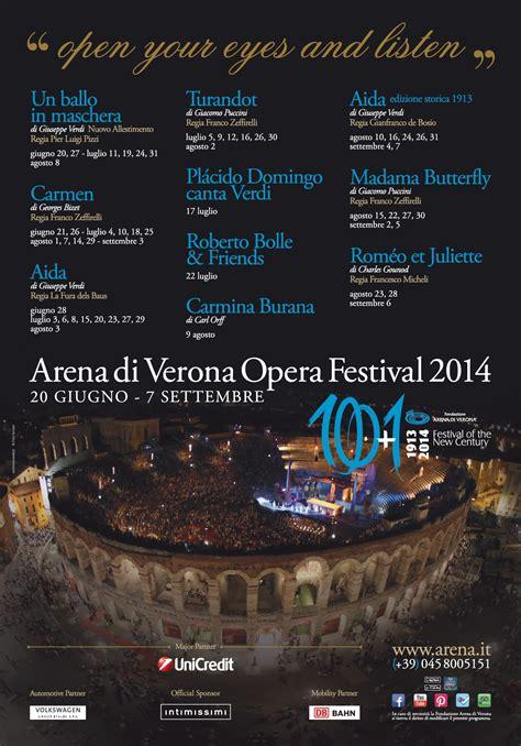 Calendario Arena 2015 Verona Opera Festival Calendar 2014 Gardaconcierge