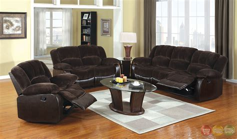 Brown Living Room Furniture Sets Winslow Traditional Brown Living Room Set With Plush Cushions Cm6556cp
