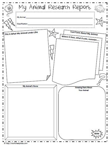 Animal Research Poster Worksheets Animal Report Template 5th Grade