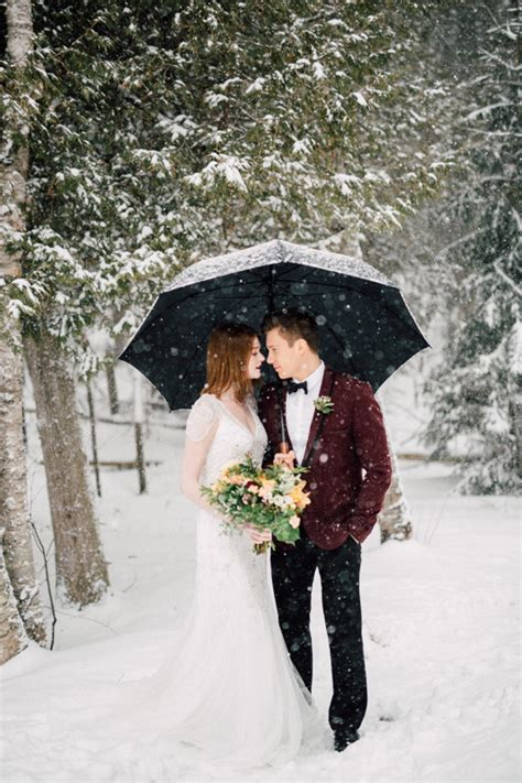 Winter Cabin Wedding by Vintage Winter Wedding Inspiration Cabin Wedding 100