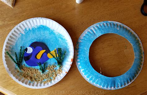 Crafts Made With Paper Plates - finding dory paper plate craft crafty morning