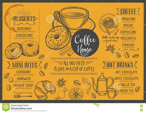 graphic design cafe menu restaurant brochure vector coffee shop stock vector
