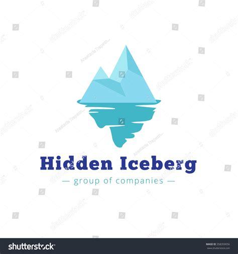Blue Tip Brand vector minimalistic blue iceberg logo brand stock vector