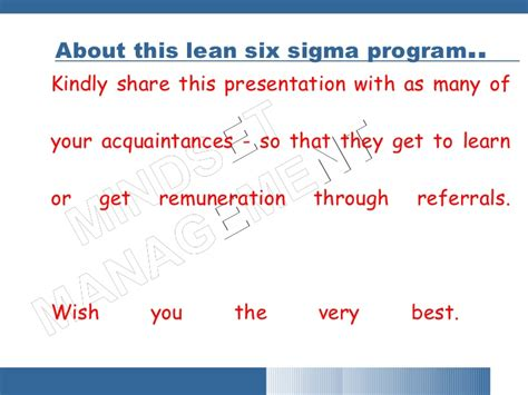 Lean Six Sigma Green Belt Bu Mba Certification by Free Lean Six Sigma Introduction Beginners Green