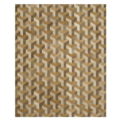 Hide Rugs Tetra Pieced Hide Rug Chagne Williams Sonoma