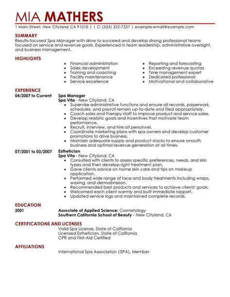 sle resume fitness manager eye grabbing manager resume sles livecareer