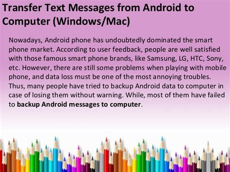 transfer text messages from android to computer windows and mac - How To Transfer Text Messages From Android To Android