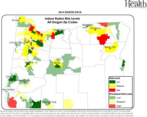 radon map portland oregon portland radon concerns and