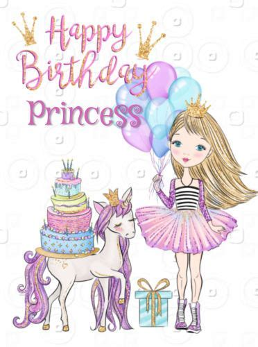 Happy Birthday Little Girl, Princess. Free For Kids eCards