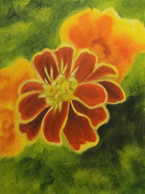 marigold paint marigold painting by maureen hargrove