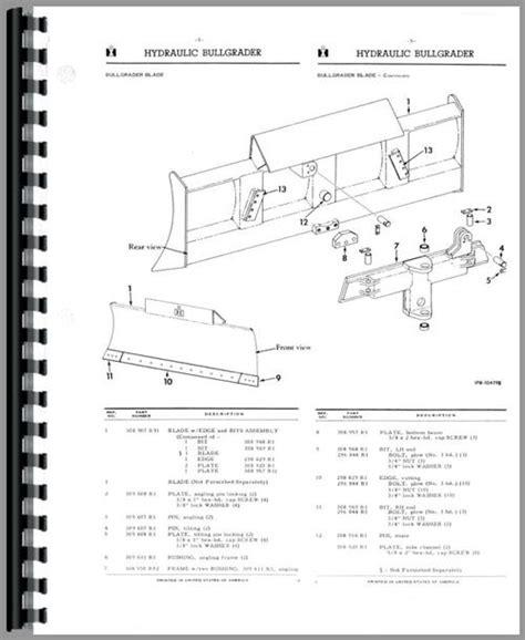 International Harvester T340 Crawler Parts Manual